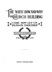 The What, How, and why of Church Building