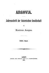 Argovia: Bände 22-23