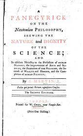 A Panegyrick on the Newtonian Philosophy, etc