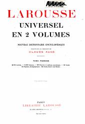 Larousse universel en 2 volumes: nouveau dictionnaire encyclopédique, Volume1