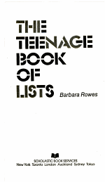 The Teenage Book of Lists