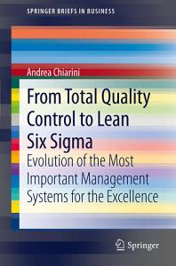 From Total Quality Control to Lean Six Sigma PDF