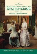 Norton Anthology of Western Music, 8th Edition Volume 2 Reg Card