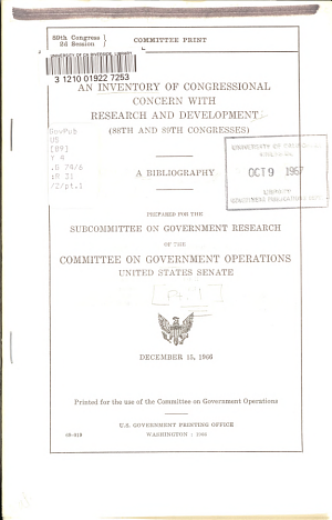 88th and 89th Congresses PDF