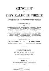 Zeitschrift für physikalische Chemie: Bände 11-12