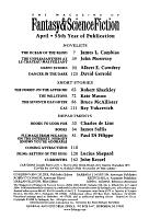 The Magazine of Fantasy   Science Fiction PDF
