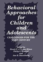 Behavioral Approaches for Children and Adolescents PDF