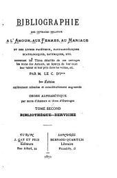 Bibliographie des ouvrages relatifs à l'amour, aux femmes, au mariage, et des livres facétieux pantagruéliques, scatologiques, satyriques, etc.,