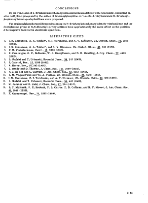 Journal of General Chemistry of the USSR in English Translation PDF