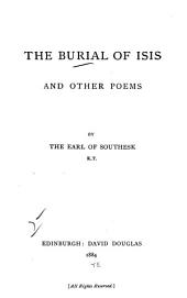 The Burial of Isis: And Other Poems