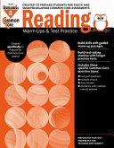 Common Core Reading  Warm Ups and Test Practice Grade 8 Teacher Resource PDF
