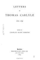 Letters of Thomas Carlyle  1826 1836 PDF