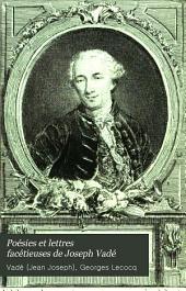 Poésies et lettres facétieuses de Joseph Vadé: Volume12