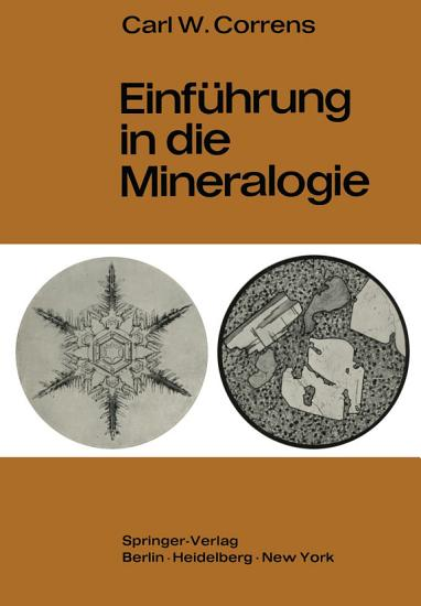 Einf  hrung in die Mineralogie PDF