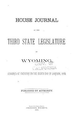 House Journal of the State Legislature of Wyoming PDF