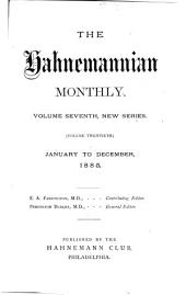 The Hahnemannian Monthly: Volume 20