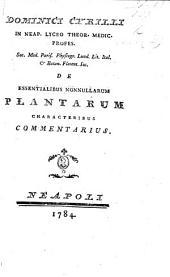 Dominici Cyrilli ... De essentialibus nonnullarum plantarum characteribus commentarius