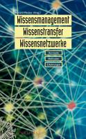Wissensmanagement  Wissenstransfer  Wissensnetzwerke PDF
