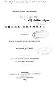 Buttmann s Larger Greek Grammar PDF