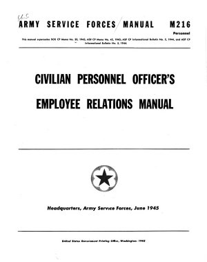 Civilian Personnel Officer s Employee Relations Manual PDF