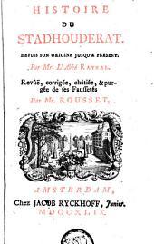 Histoire du stadhouderat