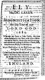 Fly, an Almanack for the Year of Our Lord God 1685