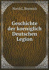 Geschichte der koeniglich deutschen Legion: Band 1