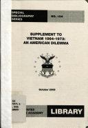 Supplement to Vietnam 1964-1973