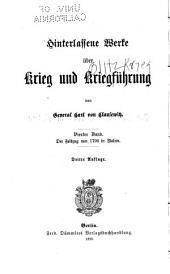 Der Feldzug von 1796 in Italien: hinterlassenes Werk