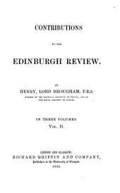Contributions to the Edinburgh Review: Volume 2