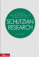 Schutzian Research vol  3   2011 PDF