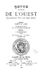 Revue historique de l'Ouest: Volume10