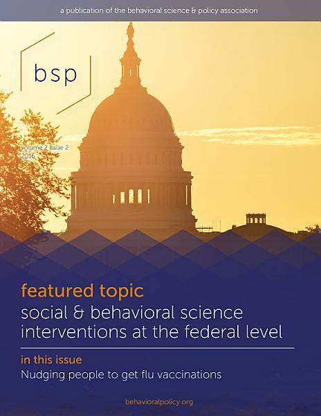 Behavioral Science & Policy
