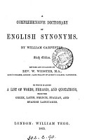 A comprehensive dictionary of English synonymes PDF