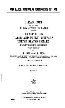 Fair Labor Standards Amendments of 1971 PDF