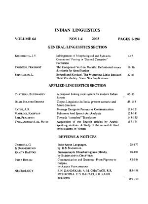 Indian Linguistics PDF
