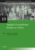 Applied Groundwater Studies in Africa PDF