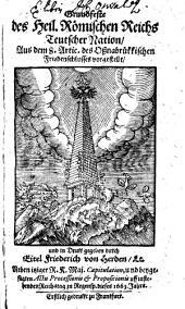 Grundfeste des Heil. Römischen Reichs Teutscher Nation: Aus dem 8. Artic. des Oßnabrükkischen Friedenschlusses vorgestellt, und in Drukk gegeben