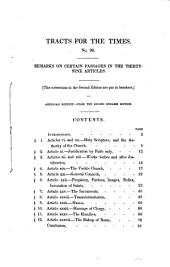 Tracts for the Times, No. 90: Remarks on Certain Passages in the Thirty-nine Articles