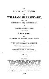 The Plays and Poems of William Shakspeare: Volume 5