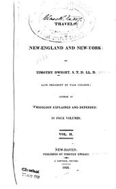 Travels: In New-England and New-York, Volume 2