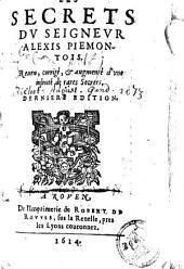Les secrets dv seignevr Alexis Piemontois