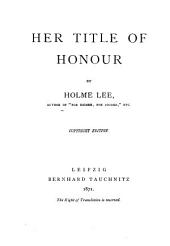Her Title of Honour