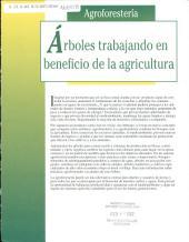 Árboles trabajando en beneficio de la agricultura