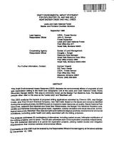 Lewis and Clark National Forest  N F    Proposed Oil and Gas Drilling Near Badger Creek and Hall Creek  Glacier County PDF