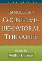 Handbook of Cognitive Behavioral Therapies  Third Edition PDF