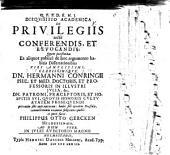 Disquisitio acad. de privilegiis recte conferendis, et revocandis