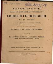 Solemnia natalitia Regis Aug. Friderici Guilelmi III ... indicit Joannes Martinus Augustus Scholz: Praemissa est commentatio de Golgothae et S. D. N. J. C. sepulcri situ