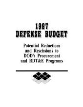 1997 Defense Budget: Potential Reductions and Rescissions to DOD's Procurement and RDT&E Programs