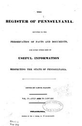 Hazard's Register of Pennsylvania: Devoted to the Preservation of Facts and Documents, and Every Kind of Useful Information Respecting the State of Pennsylvania, Volume 4